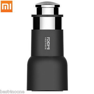 Original Xiaomi ROIDMI 5V / 3.1A Bluetooth FM Function Car Charger Adapter BLACK