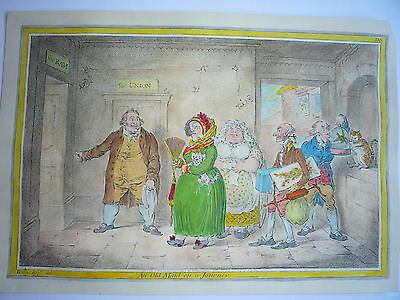 "James Gillray. "" An Old Maid On A Journey."" Very Rare."