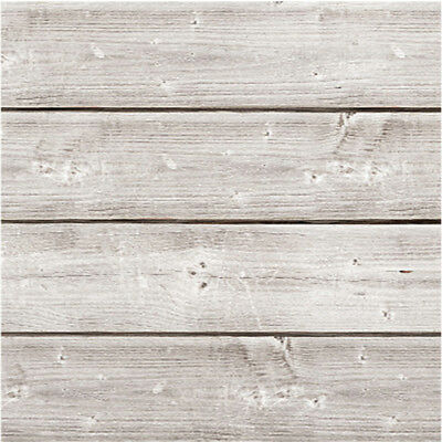 """Jillibean Soup Mix The Media Wooden Plank 6""""X6"""" Weathered White JB0990"""