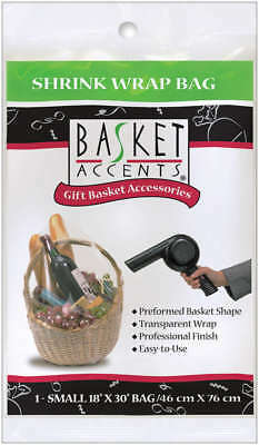 """Basket Accents Shrink Wrap Bag Small 18""""X30"""" 1/Pkg Clear 66001"""