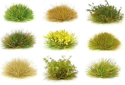 x117 sheet Self adhesive static grass tufts - Model landscape scenery