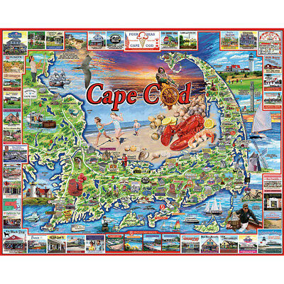 "Jigsaw Puzzle 1000 Pieces 24""X30"" Cape Cod WM969"