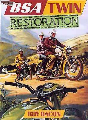 BSA Twin RESTORATION  ROY BACON  A10 A7 A65 A50  650 Gold Flash Road Rocket Book