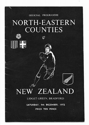 1972 - North-Eastern Counties v New Zealand, Touring Match Programme.
