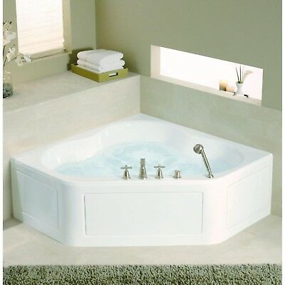 Center Drain Bathtub Kohler Tercet 5 Ft White Corner Alcove Whirlpool Tub