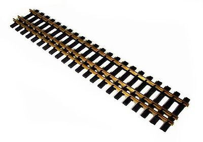 4 straight three rail brass tracks Gauge 2 (64mm) and gauge 2m, L=600 mm