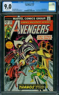 Avengers 125 CGC 9.0 - OW Pages - Thanos