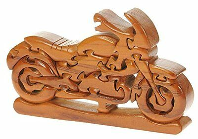 3D Puzzle Wooden Motorbike Top Gift Idea Brain Teaser For Adults and Kids