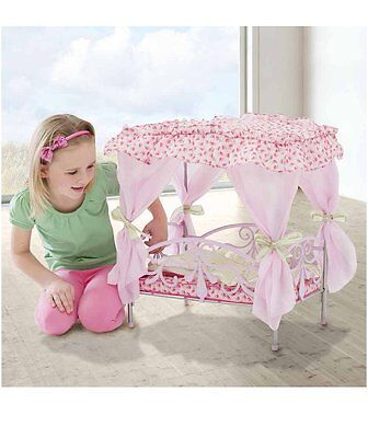 Silver Cross So Pretty Canopy Doll's Bed For 40cm Dolls Girls Toy
