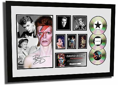 New David Bowie Signed Limited Edition Framed Memorabilia