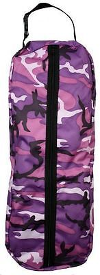 Showman Bridle Show Halter Bag Full Zipper Purple Camoflage New Horse Tack