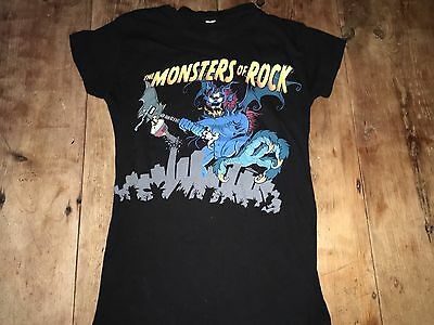 Ozzy Obourne Monsters Of Rock Calgary 2008 Black S/xs T Shirt