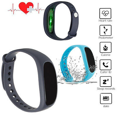 Sports Fitness Tracker Smart Watch Wristband Bluetooth Android IOS Fitbit Style