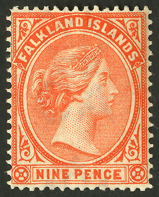 Falkland Islands  1891-1902  Scott # 17  Mint Lightly Hinged
