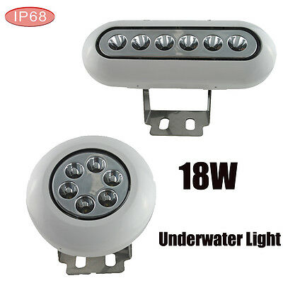 18W 12V RGB Mulit-Color LED Underwater Light Stainless IP68 Pool Pond Boat Fish