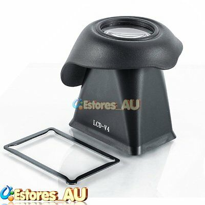V4 LCD Viewfinder 2.8x Magnifier Extender Magnetic Hood For Sony NEX-3 NEX-5