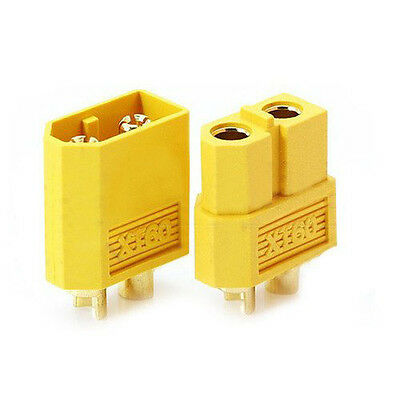 5 pairs yellow nylon XT60 T- plug  Lipoic power socket RC Gold plug adapter BT
