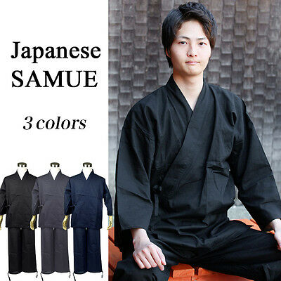 Japanese SAMUE Traditional Relaxing Work Wear Zen Buddhist Monk 3 colors Japan