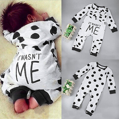 Newborn Long Sleeve Romper Jumpsuit Bodysuit Clothes Baby Boy Girl Kids Outfits