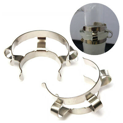2pcs 24# Stainless Steel Clip Keck Clamp for 24/29 24/40 Glass Ground Joint BT