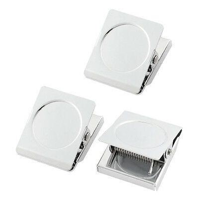 Refrigerator Spring Loaded Magnetic Wall Clip Memo Note Holder 3pcs BT