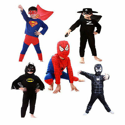Halloween Costume Party Cosplay For Children Boys Girl Red Spider-Man Kids Suit