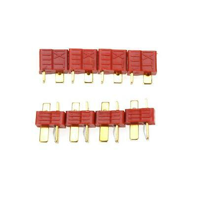 10 Pairs Non-slip TPlug Male and Female Connectors for RC Lipo Battery Red BT
