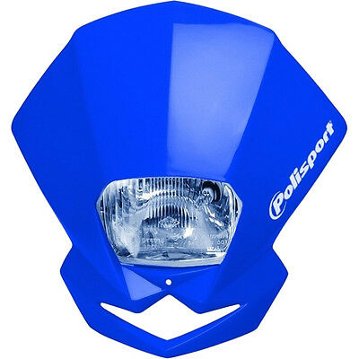 Polisport NEW Mx EMX 12V Blue Universal Motocross Dirt Bike Enduro Headlight