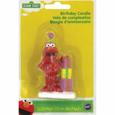 Wilton Elmo Sesame Street Birthday Cake Decorating Candle Topper, Handpainted