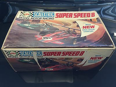 Scalextric C.554 Super Speed 8 Set With Two Cars 1970's