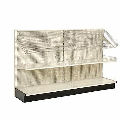 "Lozier - Gondola Shelving, 48""W x 19""D x 84""H Single Side - Wall Add-On"