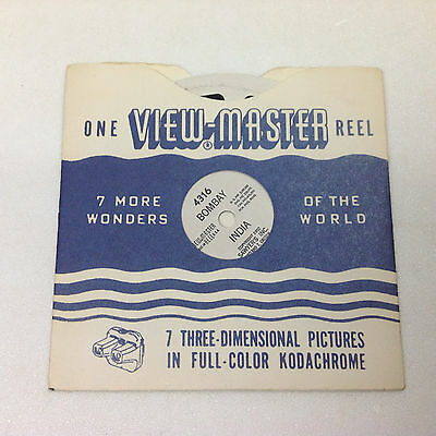 Vintage SAWYER'S VIEW-MASTER REEL 4316 BOMBAY INDIA