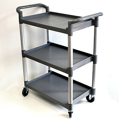 Kitchen / Catering / Restaurant Utility Trolley Sturdy Plastic 3 Tiers