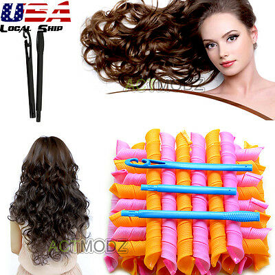 18/20/24/40Pcs For Spiral Curls Magic Circle Hair Styling Roller Curler Tools