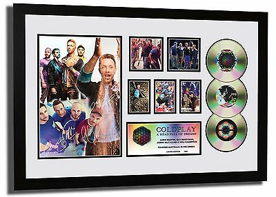 Coldplay A Head Full Of Dreams Tour Signed Limited Edition Framed Memorabilia