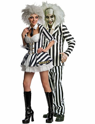 Beetlejuice Couple Fancy Dress Costumes