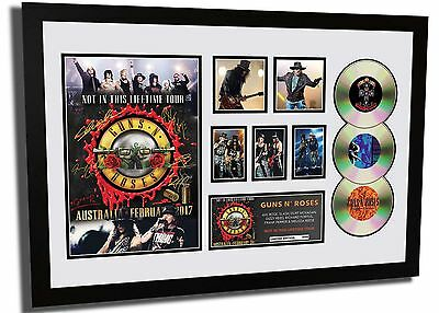 Guns N' Roses Once In A Lifetime Tour Signed Limited Edition Framed Memorabilia