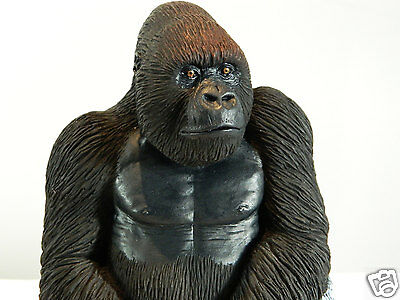 Silver Back Gorilla Sculpture, Ornament, Mothers Day, Birthday Gift, Ape, Monkey