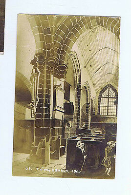 Guernsey Town Church Channel Islands Original Vintage Old Real Photo Postcard Lg