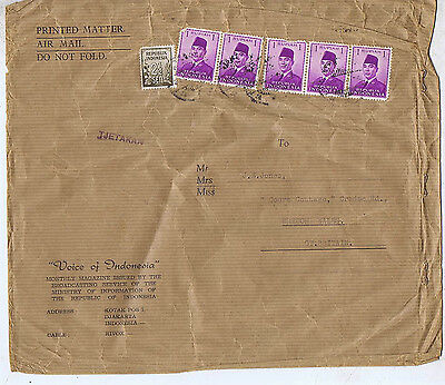 Indonesia 6 Stamps / Postmark / Cover  Ay
