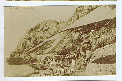 Gibraltar Catalan Bay Original Vintage Old Real Photo Postcard Mi
