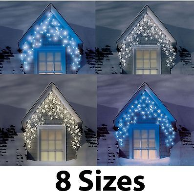 Snowtime Outdoor LED Multi Function Christmas Icicle Lights Various Colours Size