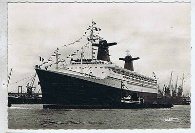 French Ocean Liner Original Vintage Old Real Photo Postcard Om