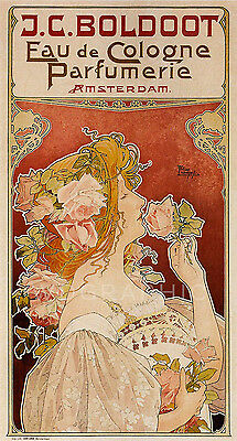 Parfumerie Cologne 1899  Advertising Vintage Giclee Canvas Print 18x33