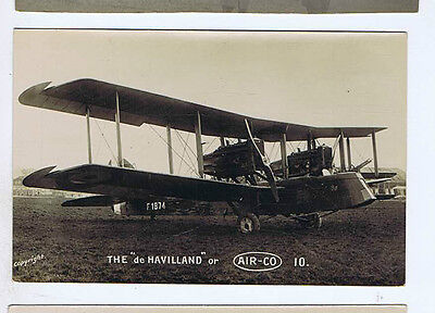 De Havilland Biplane Liberty Aircraft Original Old Real Photo Postcard Md2