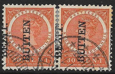 Netherlands Indies stamps 1908 NVPH 95fb  PAIR  CANC  F/VF