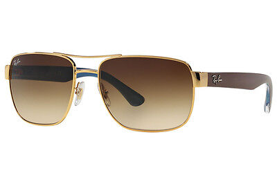 Ray-Ban RB3530 001/13 Gold/Brown Frame Brown Gradient 58mm Lens Sunglasses