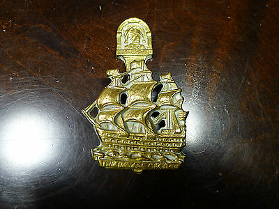 Vintage Brass Nautical HMS The Royal George Sailing Ship Door Knocker
