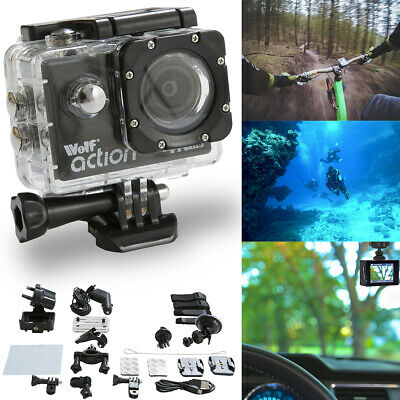 Wolf Action 4K Waterproof Action Sports Ultra HD Camera Cam DV Camcorder