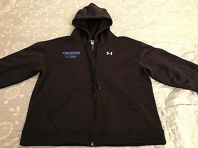 """HBO Series:THE WIRE """"Season 5"""" FILM CREW HOODED Under Armour JACKET """"NEW"""" Large"""